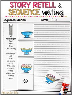 story retell and sequence writing writing workshop kindergarten writing narrative writing. Black Bedroom Furniture Sets. Home Design Ideas