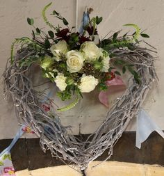 A few flowers a twiggy heart and some bunting....