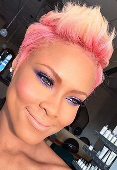 9.Pink Pixie Cut