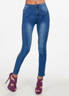 Fashion Jeans-High Rise Skinny Jean-Jeans For Curvy Women #modaxpress #style #fashion #jeans