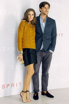 Olivia does mustard sweater perfection at the World of Esprit Party