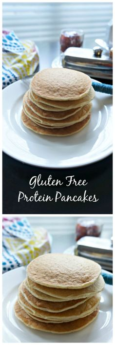 These pancakes are made gluten free with oats and are kept super light and fluffy with the addition of cottage cheese--which also boosts the protein in these pancakes, for a perfect start to your day.