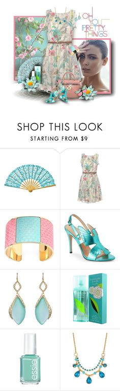 """Ted Baker Light Pink Floral Dress"" by franceseattle ❤ liked on Polyvore featuring Cultural Intrigue, Ted Baker, Aspinal of London, Alexis Bittar, Elizabeth Arden, Essie, Retrò and Betsey Johnson"
