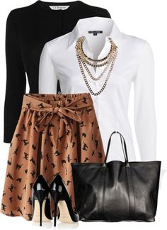 Cat Print Skirt Stylish Spring Outfit