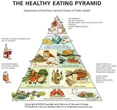 I always wondered why the original food pyramid suggested to have 6-11 servings of grain, rice, pasta, wheat, cereals...ect. This one seems more reasonable...