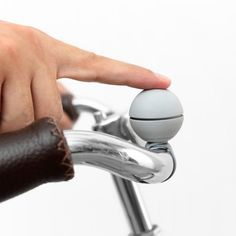 Products we like / Magnetic Bike Bell / Grey / Spherical / at Ippinka