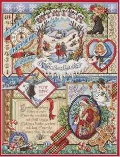 Amazon.com: Janlynn Cross Stitch Kit, 16-Inch by 12-Inch, Winter Sampler