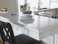 gorgeous countertop {Formica Laminate 6696 Carrara Bianco}