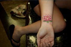 #lotus #tattoo #wrist