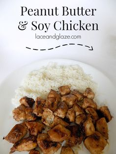 Peanut butter & soy sauce chicken recipe! This chicken is to die for. It's yummy and easy to make. Super easy. You can make it in under 15 minutes. #peanutbutter #soysauce #chicken #chickendinner #food #recipe