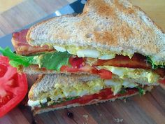 BLT and Deviled Egg Salad Sandwich. Try this delicious variation of two classics. Crunchy, meaty BLT with deviled egg salad on one tasty sandwich!even chicken or tuna salad maybe even seafood salad Egg Salad Sandwiches, Delicious Sandwiches, Soup And Sandwich, Wrap Sandwiches, Lunch Recipes, Sandwich Recipes, Cooking Recipes, I Love Food, Good Food