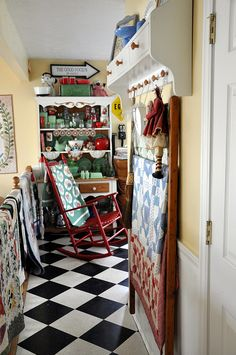 Walking into Lori Holt's Kitchen by Pleasant Home, via Flickr