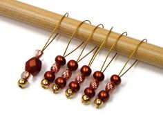Beaded Knitting Stitch Markers Set Snag Free DIY by TJBdesigns, $7.50