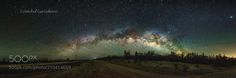 Road to  MIlkyway - The complete arch and Milky way galaxy panoramic view