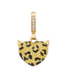 Theo Fennell- Limited Edition Yellow Sapphire Leopard Small 'Art Pendant