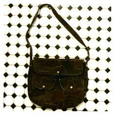 Vintage suede purse Brown shoulder bag Bags Shoulder Bags