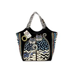 Laurel Burch Black Red Whiskered-Cat Tote ❤ liked on Polyvore featuring bags, handbags, tote bags, tote purses, red tote handbags, laurel burch tote bags, handbags tote bags and tote bag purse