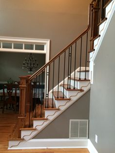 square iron balusters stairs - Google Search