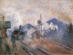 En avril 1877, à la troisième exposition impressionniste, Claude Monet présente douze toiles représentant la gare Saint-Lazare. Il s'agit de la première série qui se focalise sur un thème. Plus tard il y aura les Meules, les Peupliers, les Cathédrales…