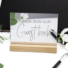 Mirror Silver Guest Book Sign with Timber Base - Engraved Wedding Decorations - We ship to Aus and NZ. Factory direct wedding decorations and personalised giftware. Guest Book Sign, Wedding Guest Book, Wedding Day, Acrylic Panels, Beautiful Mirrors, Wishing Well, Personalized Wedding, Wedding Signs, Laser Engraving