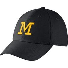 499a8eaa579 Jordan Men s Michigan Wolverines Blue Dri-FIT Wool Swoosh Flex Hat