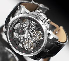 Designed by Roger Dubius himself, there have been only 88 Millesime Double Flying Tourbillon watches created and each one is a work of art. The mechanism inside is integrated with, as the name suggests, a double flying tourbillion, which compensates for the gravity's effect on the watch. What you get is not just a luxury branded chronograph, but one of the most accurate timepieces ever created