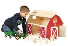 John Deere Big Wooden Barn