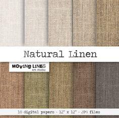Digital papers https://www.etsy.com/listing/175553707/linen-digital-paper-pack-natural-burlap