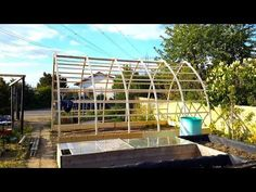 Building a Gothic Arch Greenhouse Part 1 Greenhouse Kitchen, Backyard Greenhouse, Small Greenhouse, Greenhouse Plans, Shed Building Plans, Building A Pergola, Shed Plans, Arch Building, Garage Plans