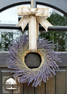 Lavender Wreath  Wreath  Preserved Lavender  by TheSeptemberTree