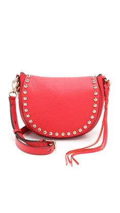 Rebecca Minkoff Unlined Saddle Bag- Red for the win!