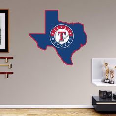 Texas Rangers State Wall Decals by Fathead, Multicolor