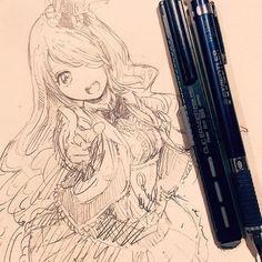 休憩〜見づらくて一回消しましたごめんなさいああ〜 #illustration #doodle #drawing #otaku #manga #イラスト #絵 #落書き #アナログ