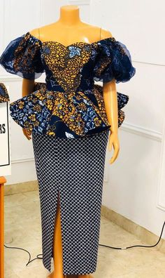 ankara peplum blouse and skirt styles African Blouses, Latest African Fashion Dresses, African Print Dresses, African Dresses For Women, African Print Fashion, Africa Fashion, African Attire, Ankara Styles For Women, Ankara Fashion