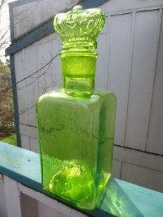 Uranium glass jar ebay