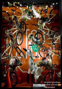 stop/go, pinned by Ton van der Veer Window Display Design, Window Displays, Shop Windows, Large Windows, Marketing Visual, Mannequin Display, Traffic Sign, How To Attract Customers, Bergdorf Goodman