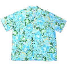 Seaglass Green Hawaiian Rayon Shirt - Lavahut