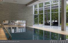 Wnętrza luksusowej rezydencji w Konstancinie. Basen. Projekt i realizacja: lengiewicz-charkiewicz.com #pool (fotografia: Hanna Długosz)