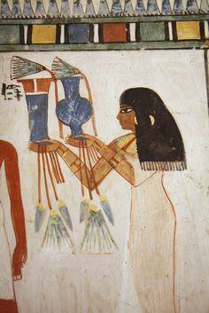 tumba de Menna TT69 , Sheikh abd el-Qurna , Luxor , Valle de los Nobles .Escriba Menna , Reinado de Tutmosis