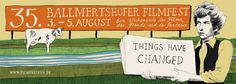 Things have changed – Deisgn for the 35th Filmfestival in Ballmertshofen