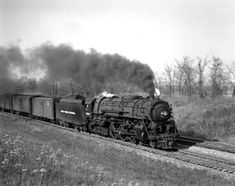 New York Central Railroad, Railroad History, Train Pictures, Steam Engine, Steam Locomotive, Places To Go, Photo Galleries, Horses, Black And White