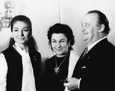 Maria Callas, Zinaida Palli, Tito Gobbi in Moscow. 1970