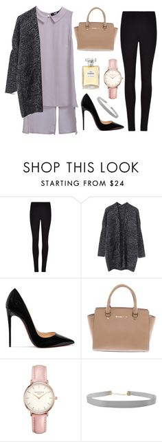"""How to wear outfit"" by huyentrangle238 on Polyvore featuring mode, Winser London, Christian Louboutin, Michael Kors, Topshop, Humble Chic et Chanel"