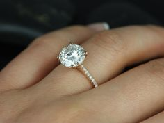 Eloise 9mm Size 14kt Rose Gold Round FB Moissanite by RosadosBox