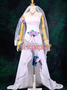 Macross Frontier Costumes Sheryl Wedding Dress Cosplay Costume Deluxe-P1