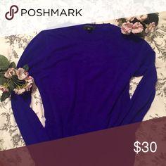 Ann Taylor Cashmere Sweater Never worn royal blue sweater from Ann Taylor Ann Taylor Sweaters Crew & Scoop Necks