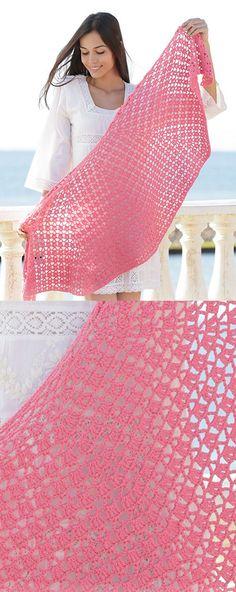 Free Crochet Pattern for a Shawl - Watermelon Slice ⋆ Crochet Kingdom