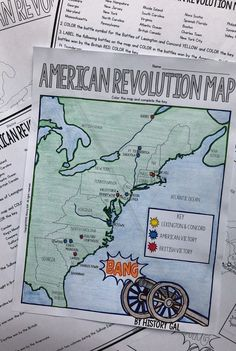 This activity will help students better understand the American Revolution. They will label and color the blank map version and answer a few questions. Students will label the 13 colonies, important cities, and key battles. Alternatively, students can jus 7th Grade Social Studies, Social Studies Classroom, History Classroom, History Education, Teaching Social Studies, History Teachers, Teaching History, Women's History, British History