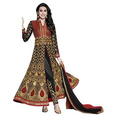 Fab Ikshvaku Latest Indian Georgette Embroidery Black Bollywood Wedding Anarkali Suit FAB IKSHVAKU http://www.amazon.com/dp/B0194MLDWS/ref=cm_sw_r_pi_dp_9HWexb187AAAA