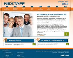 Great new staffing website design: NEXTAFF's new website is poised to service their workforce strategy provider partners.